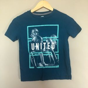 Old Navy Boys Blue United Graphic Short Sleeve Tee